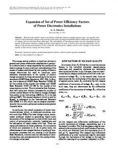 Expansion of set of power efficiency factors of power electronics installations