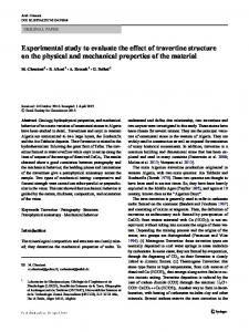 Experimental study to evaluate the effect of travertine structure on the physical and mechanical properties of the material