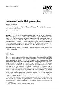 Extensions of irreducible representations