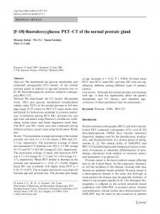 [F-18]-fluorodeoxyglucose PET-CT of the normal prostate gland