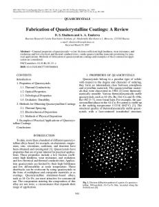 Fabrication of quasicrystalline coatings: A review