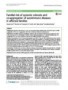 Familial risk of systemic sclerosis and co-aggregation of autoimmune diseases in affected families