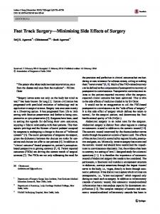 Fast Track Surgery—Minimizing Side Effects of Surgery