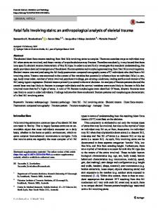 Fatal falls involving stairs: an anthropological analysis of skeletal trauma