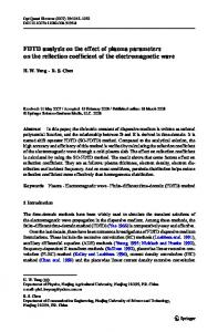 FDTD analysis on the effect of plasma parameters on the reflection coefficient of the electromagnetic wave
