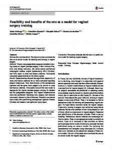 Feasibility and benefits of the ewe as a model for vaginal surgery training