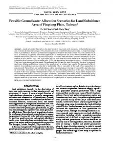 Feasible groundwater allocation scenarios for land subsidence area of Pingtung Plain, Taiwan