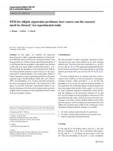 FEM for elliptic eigenvalue problems: how coarse can the coarsest mesh be chosen? An experimental study