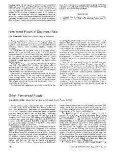 Fermented foods of Southeast Asia