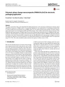 Fe:ZnO) for electronic packaging application