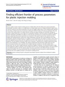 Finding efficient frontier of process parameters for plastic injection molding