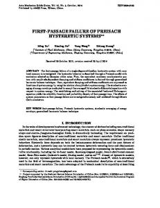 First-passage failure of preisach hysteretic systems