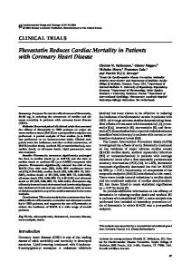 Fluvastatin Reduces Cardiac Mortality in Patients with Coronary Heart Disease