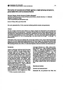 Formation of monoclonal antibody against a major ginseng component, ginsenoside Rb1 and its characterization