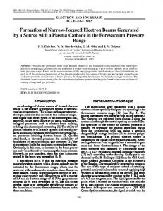Formation of narrow-focused electron beams generated by a source with a plasma cathode in the forevacuum pressure range