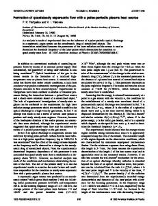 Formation of quasisteady supersonic flow with a pulse-periodic plasma heat source