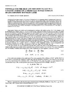 Formulas for the heat and diffusion fluxes to a catalytic surface in a chemically nonequilibrium multicomponent boundary layer