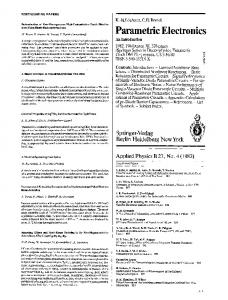Forthcoming papers