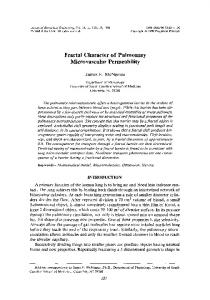 Fractal character of pulmonary microvascular permeability