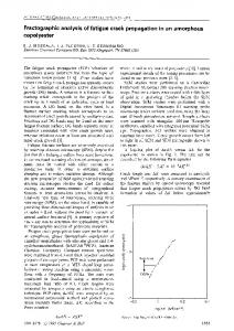Fractographic analysis of fatigue crack propagation in an amorphous copolyester