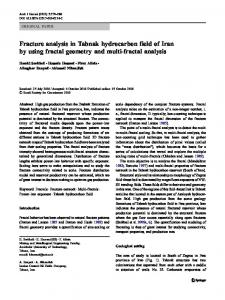 Fracture analysis in Tabnak hydrocarbon field of Iran by using fractal geometry and multi-fractal analysis
