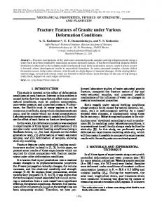Fracture features of granite under various deformation conditions