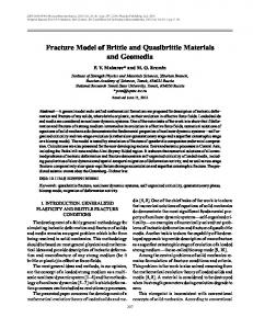 Fracture model of brittle and quasibrittle materials and geomedia