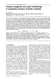 Fracture toughness and crack morphology in indentation fracture of brittle materials