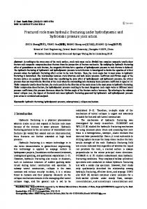 Fractured rock mass hydraulic fracturing under hydrodynamic and hydrostatic pressure joint action