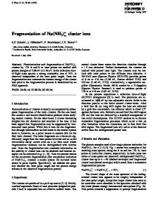 Fragmentation of Na(NH3) n +   cluster ions