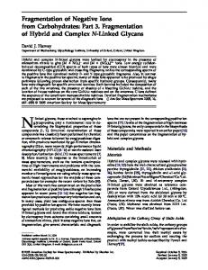Fragmentation of negative ions from carbohydrates: Part 3. Fragmentation of hybrid and complex N-linked glycans