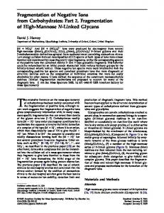 Fragmentation of negative ions from carbohydrates: Part 2. Fragmentation of high-mannose N-linked glycans