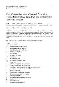 Free convection from a vertical plate with nonuniform surface heat flux and embedded in a porous medium