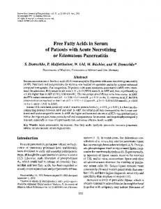 Free fatty acids in serum of patients with acute necrotizing or edematous pancreatitis