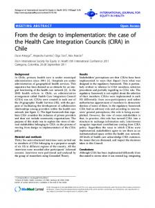 From the design to implementation: the case of the Health Care Integration Councils (CIRA) in Chile