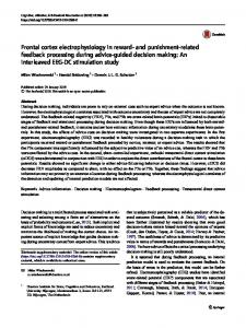 Frontal cortex electrophysiology in reward- and punishment-related feedback processing during advice-guided decision making: An interleaved EEG-DC stimulation study
