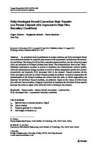 Fully Developed Forced Convection Heat Transfer in a Porous Channel with Asymmetric Heat Flux Boundary Conditions