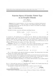 Function spaces of Lizorkin-Triebel type on an irregular domain