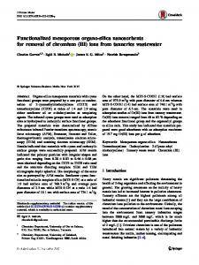 Functionalized mesoporous organo-silica nanosorbents for removal of chromium (III) ions from tanneries wastewater