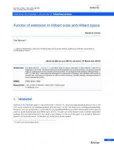 Functor of extension in Hilbert cube and Hilbert space
