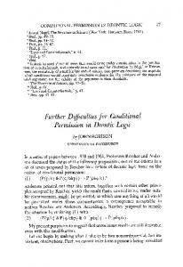 Further difficulties for conditional permission in deontic logic