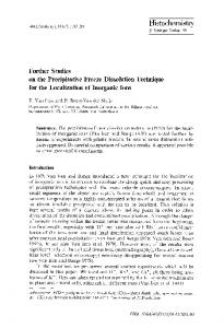 Further studies on the precipitative freeze dissolution technique for the localization of inorganic ions