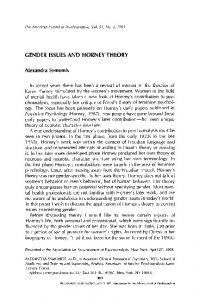 Gender issues and Horney theory