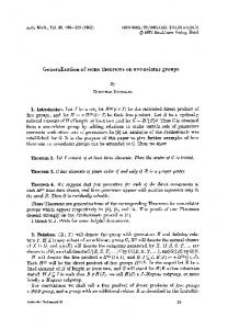Generalisation of some theorems on one-relator groups