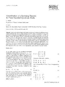 Generalization of a scattering theorem for plane-stratified gyrotropic media