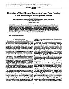 Generation of short electron bunches by a laser pulse crossing a sharp boundary of inhomogeneous plasma