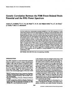 Genetic Correlation Between the P300 Event-Related Brain Potential and the EEG Power Spectrum