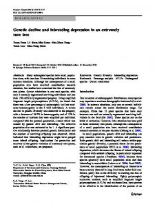 Genetic decline and inbreeding depression in an extremely rare tree