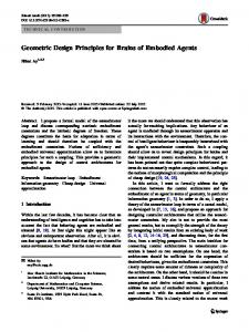 Geometric Design Principles for Brains of Embodied Agents