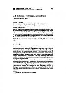 GIS Techniques for Mapping Groundwater Contamination Risk